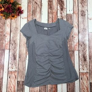 Anthropologie Postmark ruched sweetheart neck top